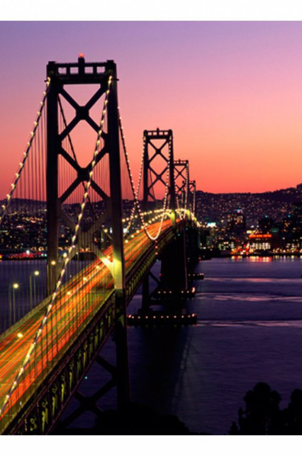 San Francisco Fototapeta - Charming evening in San Francisco