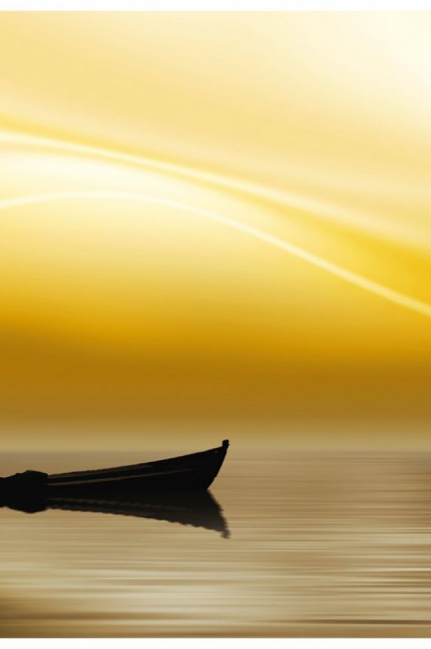 Fantasy Fototapeta - Fishing at sunset