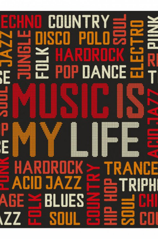 Fototapeta - Music is my life