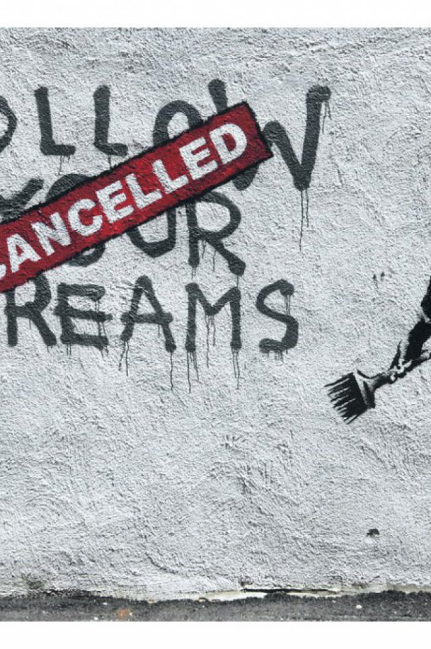 Street art Fototapeta - Dreams Cancelled (Banksy)