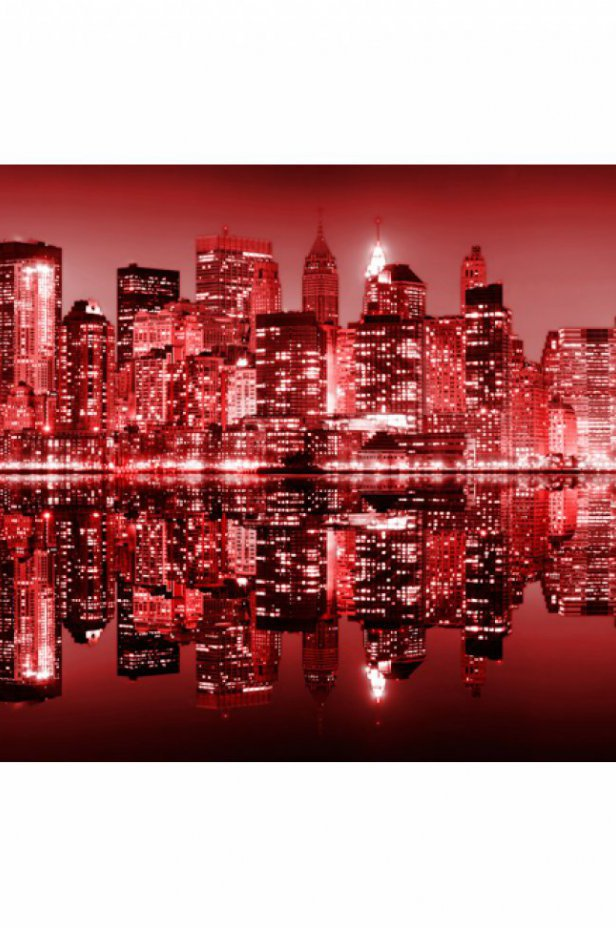 Nowy Jork Fototapeta XXL - Red-hot NYC