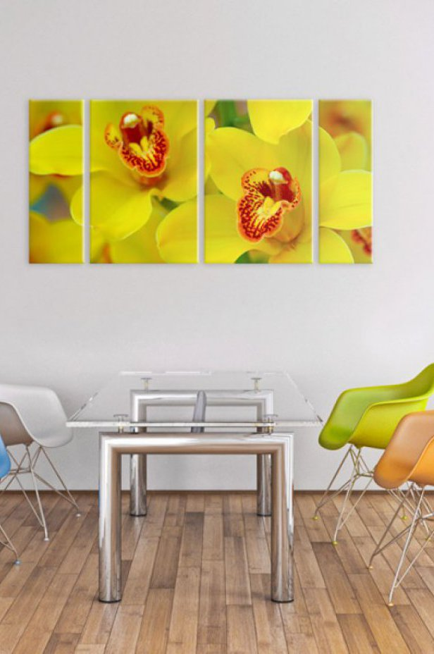 Orchidee Obraz - Orchids - intensity of yellow color