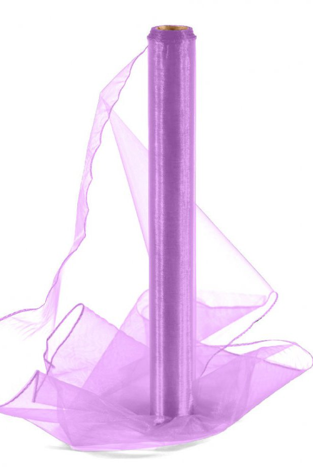 Organza fioletowa 40 cm / 10 y | 040 LIGHT PURPLE