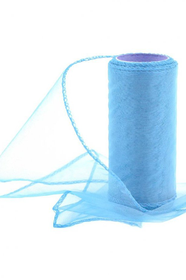 Organza jasnoniebieska 12 cm / 10 y | 022 LIGHT BLUE