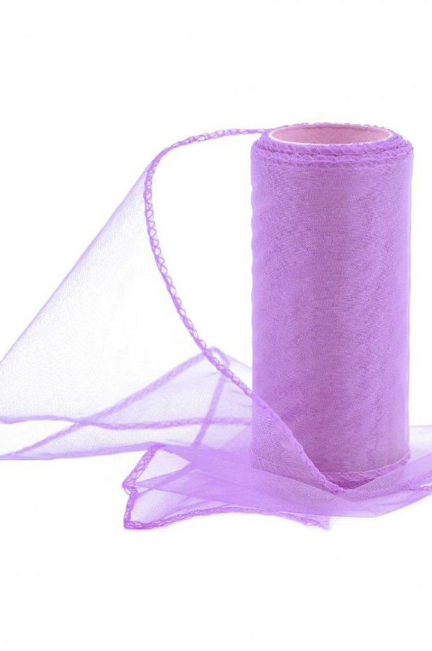 Organza jasnofioletowa 12 cm / 10 y | 040 LIGHT PURPLE