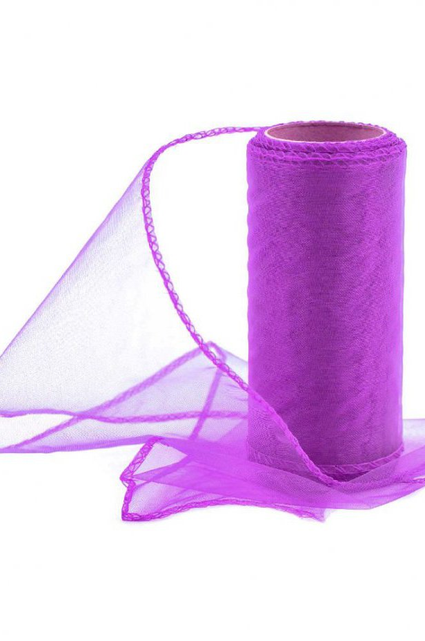 Organza ciemnofioletowa 12 cm / 10 y | 044 DARK PURPLE